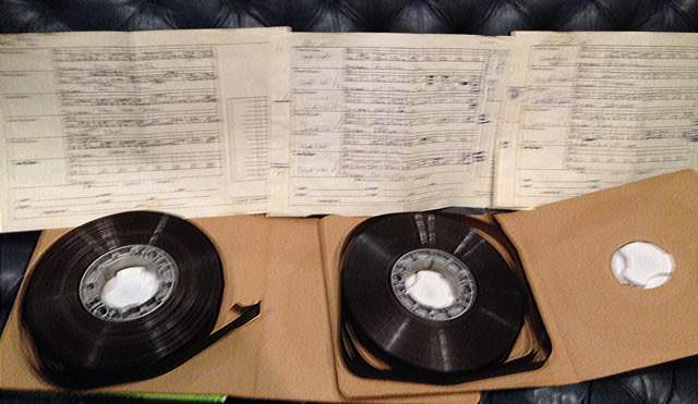Master Tapes found at Sound Arts Studio