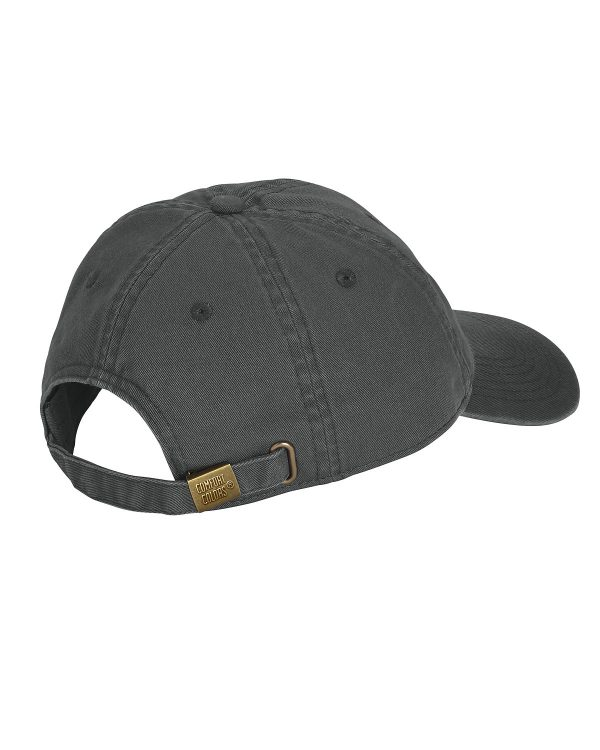Graphite hat rear view showing adjustment strap and buckle